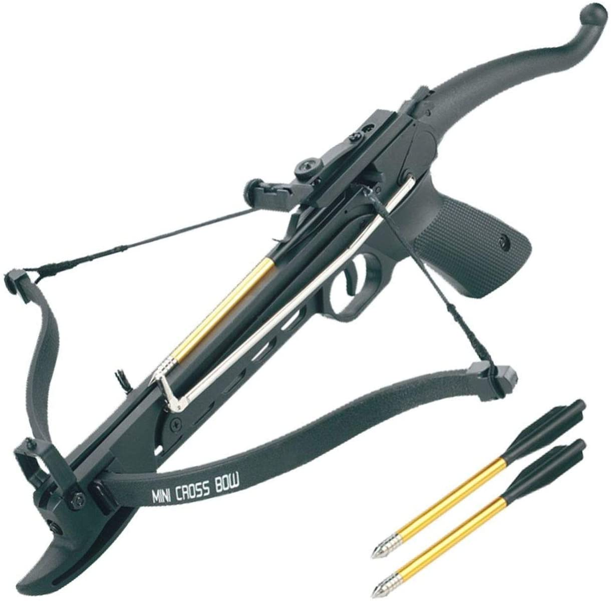 Self-Cocking Pistol Crossbow